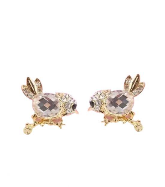 Betsey Johnson Golden Exquisite Love Birds Earrings
