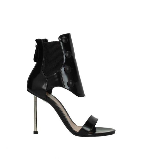 Alexander McQueen Black Back Zip Heels