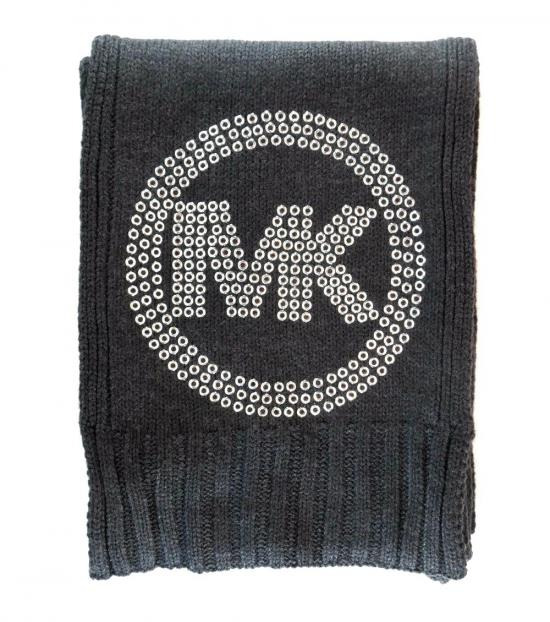 Michael Kors Grey Silver Eyelet Studded Scarf