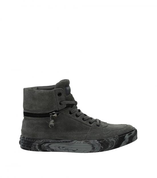 Hogan Grey Suede High Sneakers