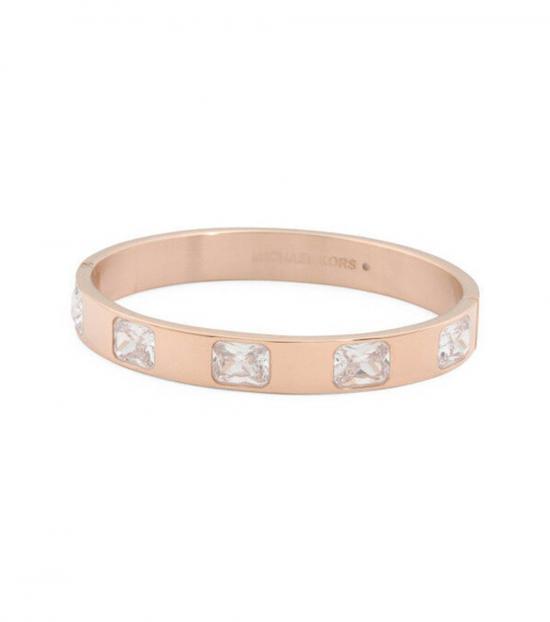 Michael Kors Rose Gold Crystal Bangle Bracelet