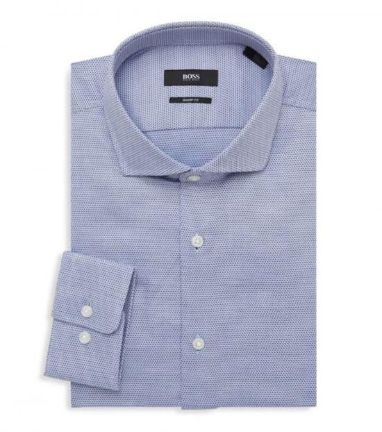Hugo Boss Blue Mark Sharp-Fit Dress Shirt
