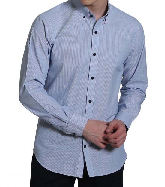 Self Stitch Stripe Button Down Shirt