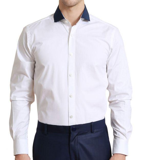 Self Stitch Color Block Detail Shirt