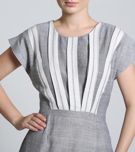 Self Stitch Monochrome Stripe Dress