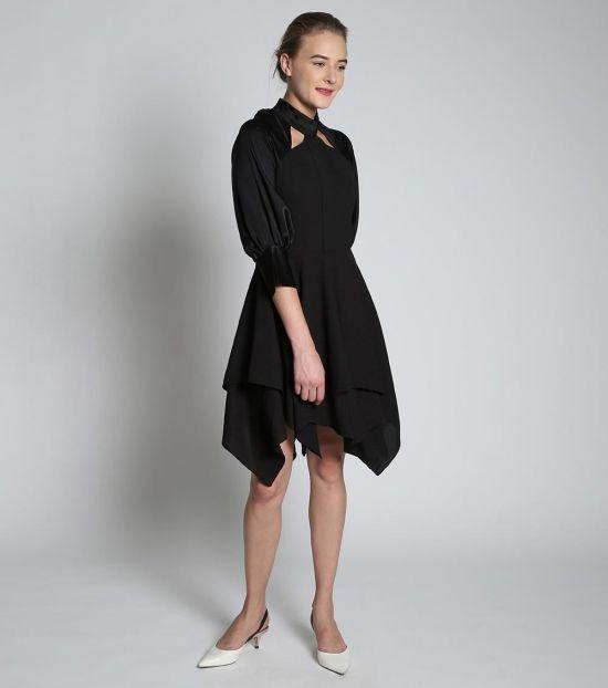 Self Stitch Double Handkerchief Dress