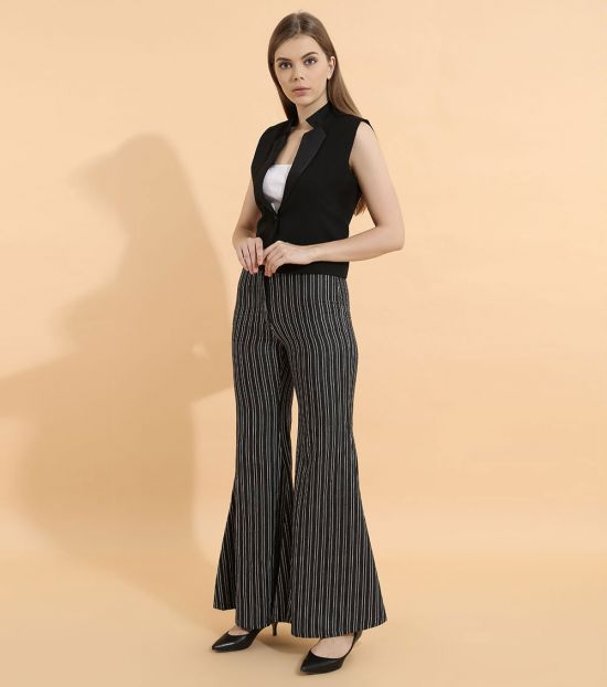 Self Stitch Black Stripe Trouser