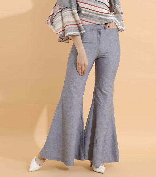 Self Stitch High Waist Wide Leg Pants