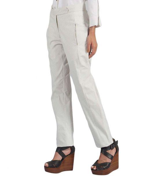 Self Stitch Angular Twist Striped Pants