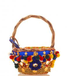Multicolor Crystal Mini Bucket Bag