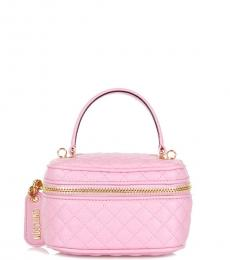 Moschino Pink Quilted Mini Satchel