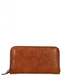 Bottega Veneta Light Brown Zip Around Wallet