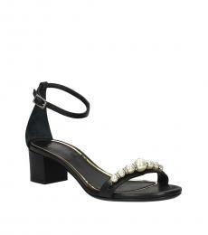 Lanvin Black Rhinestone Embellished Heels