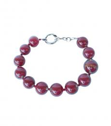 Emporio Armani Red Resin Spheres Modish Necklace