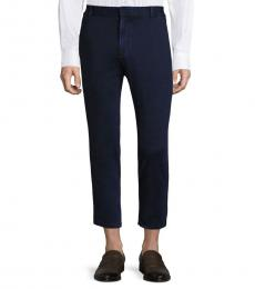 AG Adriano Goldschmied Navy Sulfur Slim Straight Crop Pant