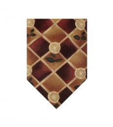 Brown Abstract Print Tie