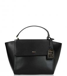 Black Top Handle Mini Satchel