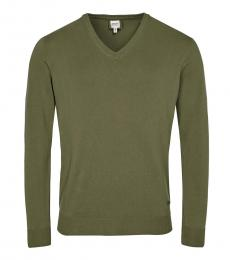 Olive Solid Cotton Pullover