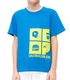 Little Boys Blue Icon Logo T-Shirt