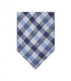 Blue Check Pattern Tie