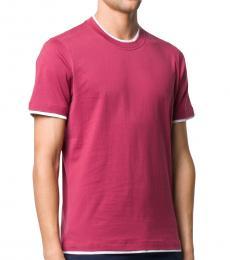 Brunello Cucinelli Pink Slim Fit T-Shirt