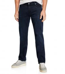 7 For All Mankind Dark Blue Classic Straight-Leg Jeans