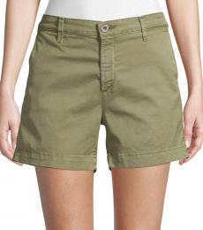 Green Caden Denim Shorts