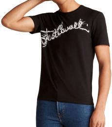 Black Vine Cursive Logo T-Shirt