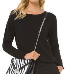 Michael Kors Black Cotton-Blend Sweater