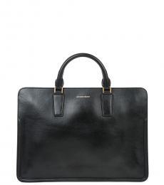 Alexander McQueen Black Heroic Slim Large Briefcase Bag