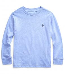 Ralph Lauren Little Boys Cobalt Heather Long Sleeve T-Shirt