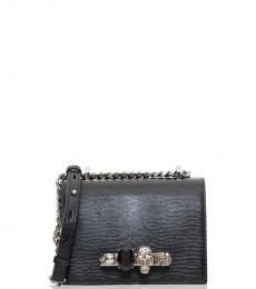 Alexander McQueen Black Jeweled Mini Crossbody Bag
