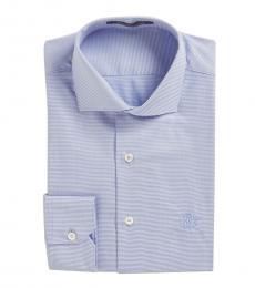 Roberto Cavalli Light Blue Diamond Pattern Dress Shirt