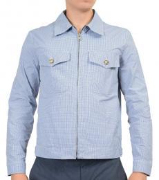 Blue Zipper Windbreaker Jacket