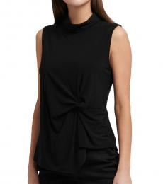 Black Sleeveless Asymmetrical Top
