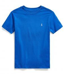 Little Boys Travel Blue Crewneck T-Shirt