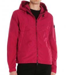 Dark Pink Scie graphic jacket