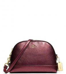 Coach Metallic Cherry Dome Medium Crossbody