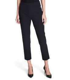 Black Compression Pull On Cropped Leggings