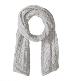 Michael Kors Pearl Heather French Cable Scarf