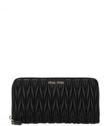 Miu Miu Black Zip Around Wallet