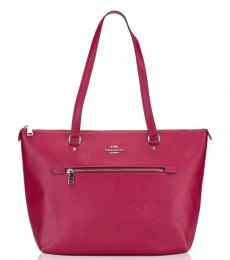Coach Dark Fuchsia Gallery Medium Tote