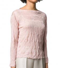 Pink Crinkled Knitted Top
