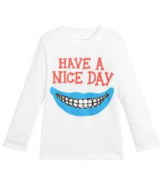 Stella McCartney Boys White Graphic T-Shirt