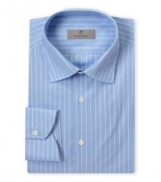 Canali Light Blue Modern Fit Dress Shirt