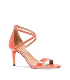 Michael Kors Pink Grapefruit Ava Mid-Heels