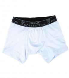 Versace Collection White Stretch Medusa Boxer Breif