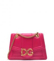 Dark Pink DG Amore Medium Shoulder Bag