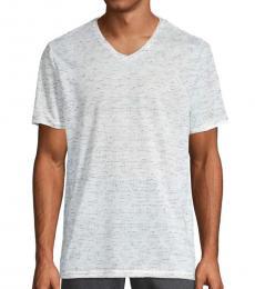 Light Grey Perforated V-Neck T-Shirt