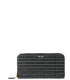 Black All Over Logo Wallet